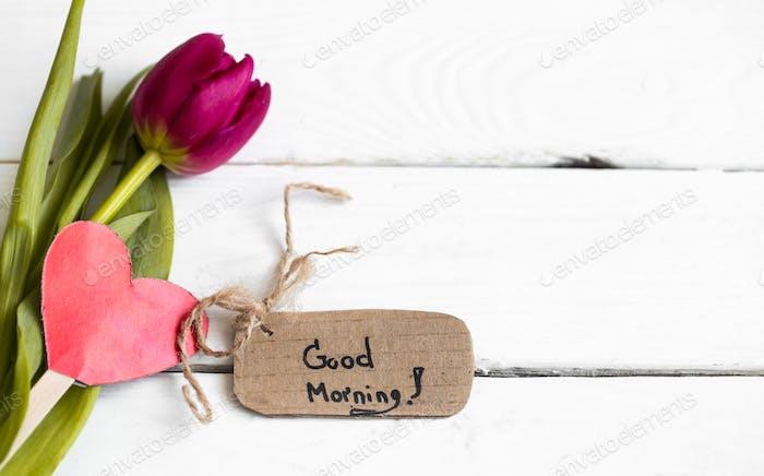 inscription good morning,