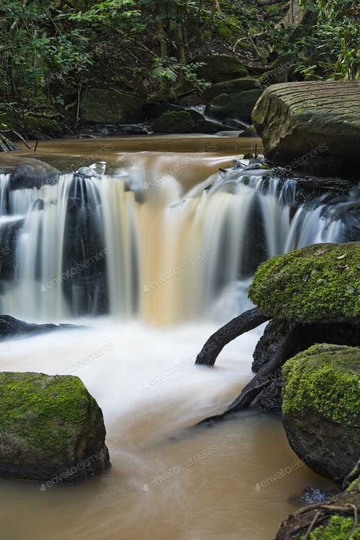 Idyllic Nairobi River Waterfall in Kenya