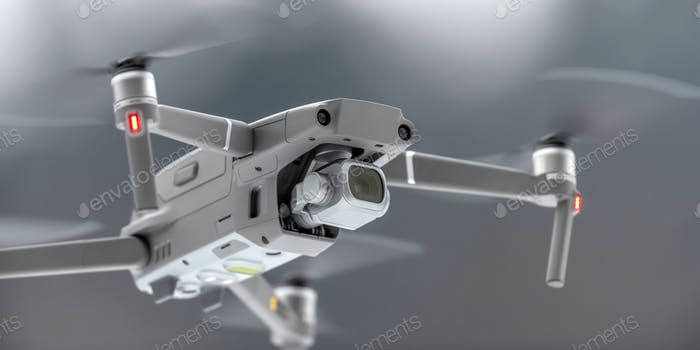 Drone quadcopter with digital camera