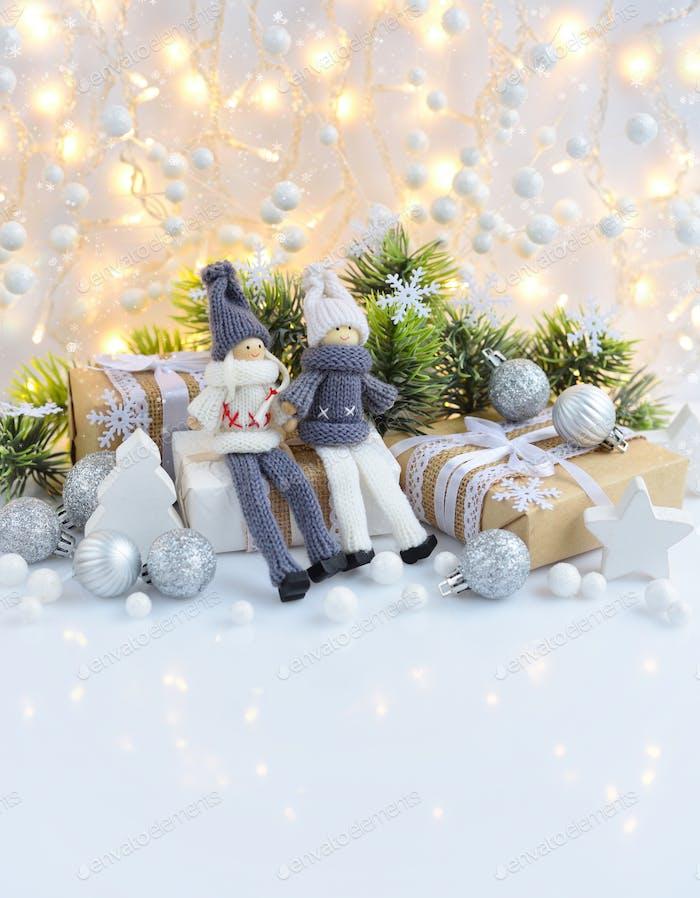 Weihnachts- oder Neujahrsgrußkarte