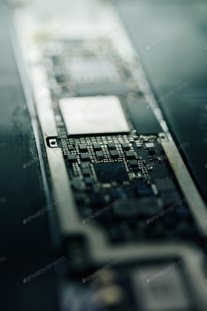 Modern smartphone logic board