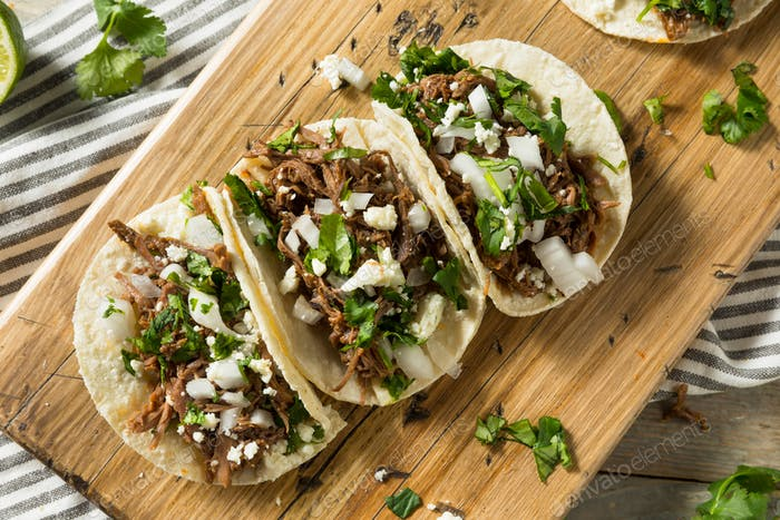 Spicy Homemade Beef Barbacoa Tacos