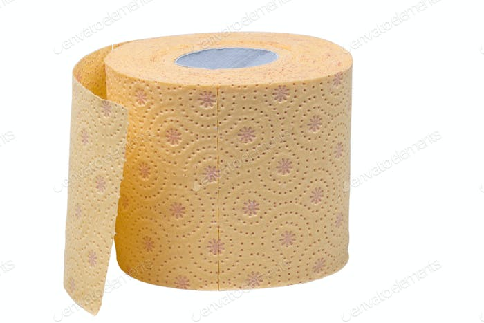 Toilet paper roll isolated