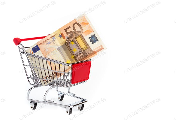 Euro in shopping cart