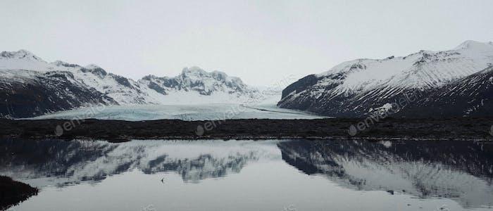 A glacial reflection