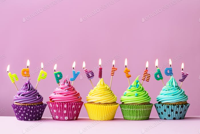Happy Birthday Cupcakes Foto Von RuthBlack Auf Envato Elements