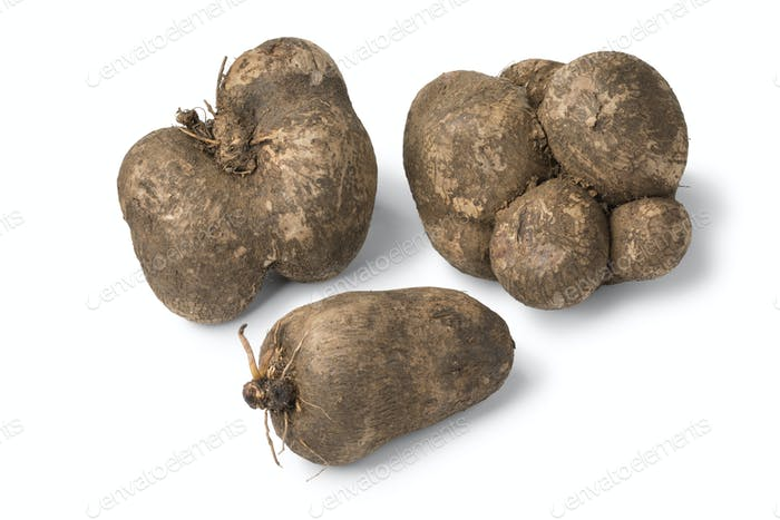Fresh raw brown yams
