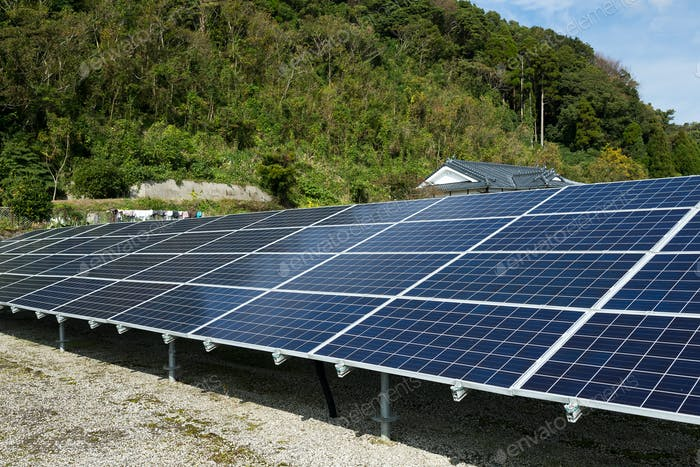 Solar panel at outdoor