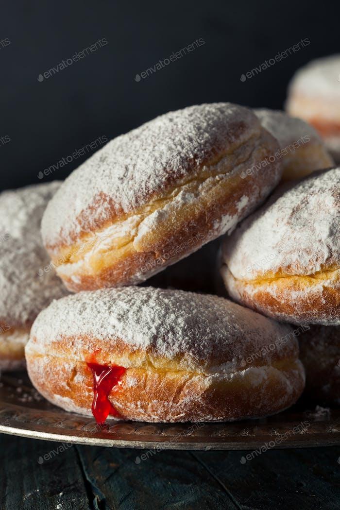 Hausgemachte Zucker Paczki Donut