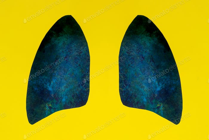Lung symbol paper art.