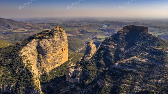 Aerial views of Cliffs at Salto de Roldan