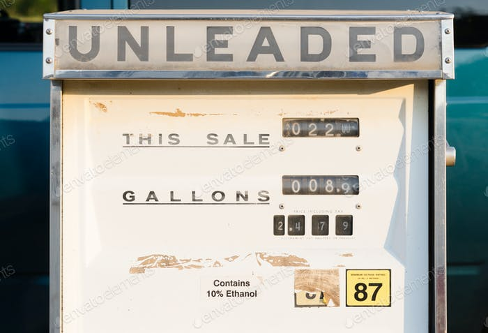 Gas Pump Unleaded Mechanical Vintage Obsolete Equipment