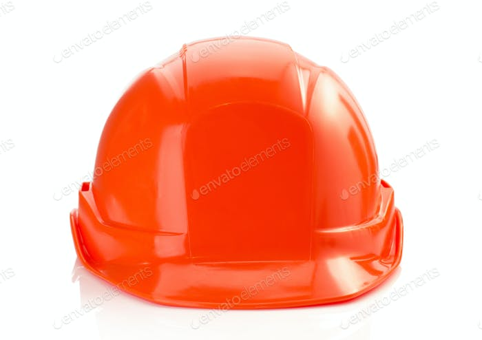 construction helmet on white background
