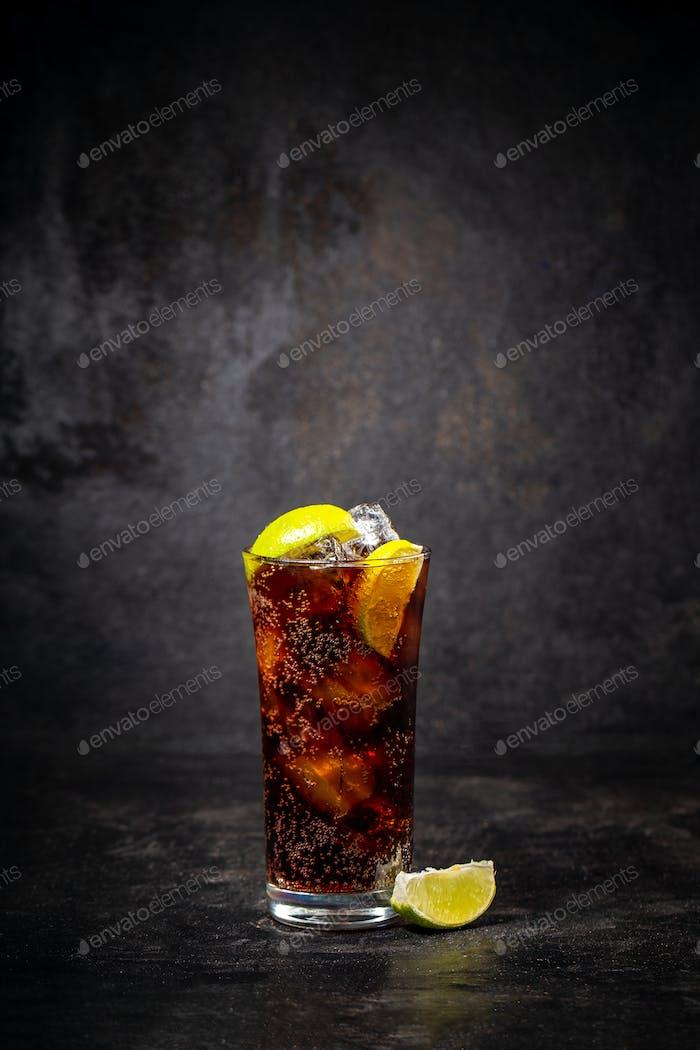 Glass of cuba libre
