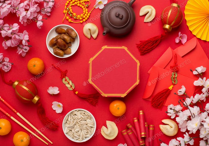 Decorations Chinese New Year festive background concept