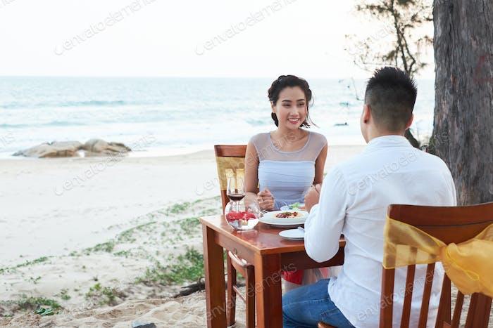 Dinner on coast