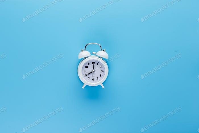 White mini alarm clock
