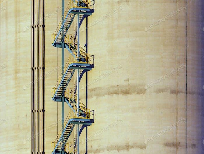 Ladder On Side of Building