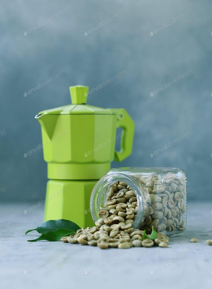 Organic Green Coffee Grains