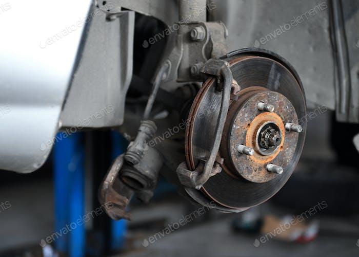 Car brake repair.