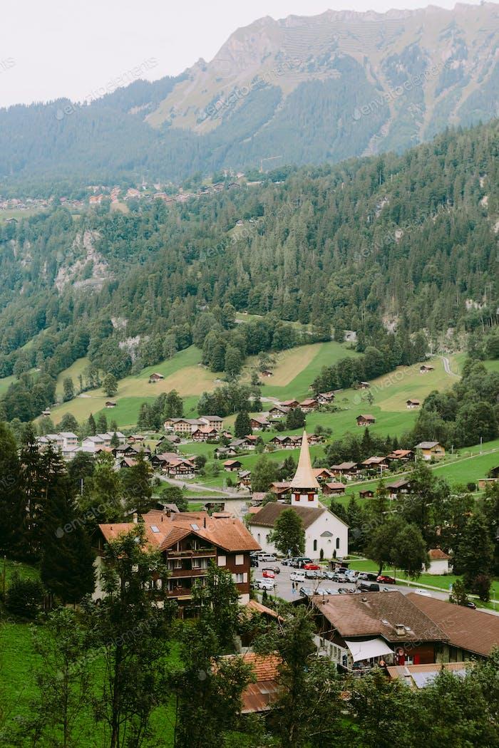 church in Lauterbrunnen valley