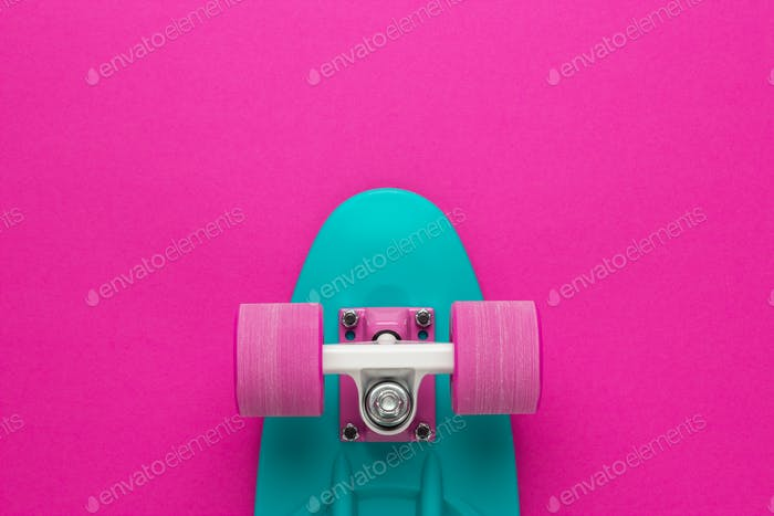 Mini Cruiser Board On Deep Pink Back