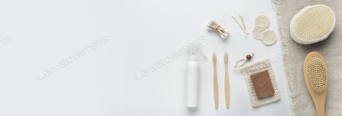 Bamboo natural accessories for bath and body