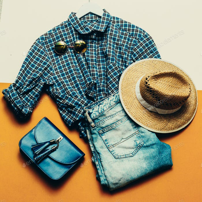 Cowboy Country Outfit. modischer Stil