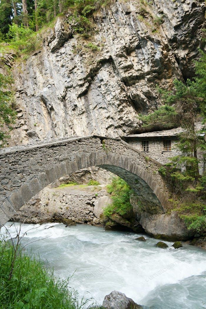 antique bridge in Pre Saint Didier