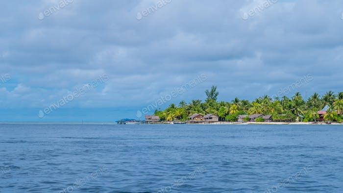 Village on Arborek Island, Raja Ampat, West Papua, Indonesia