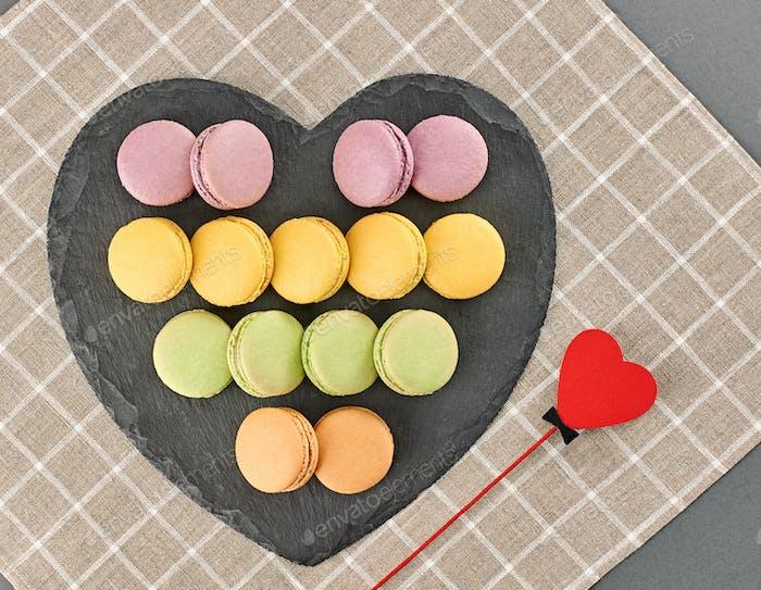 Macarons, heart