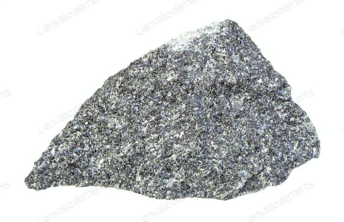 unpolished Diabase (dolerite) rock isolated