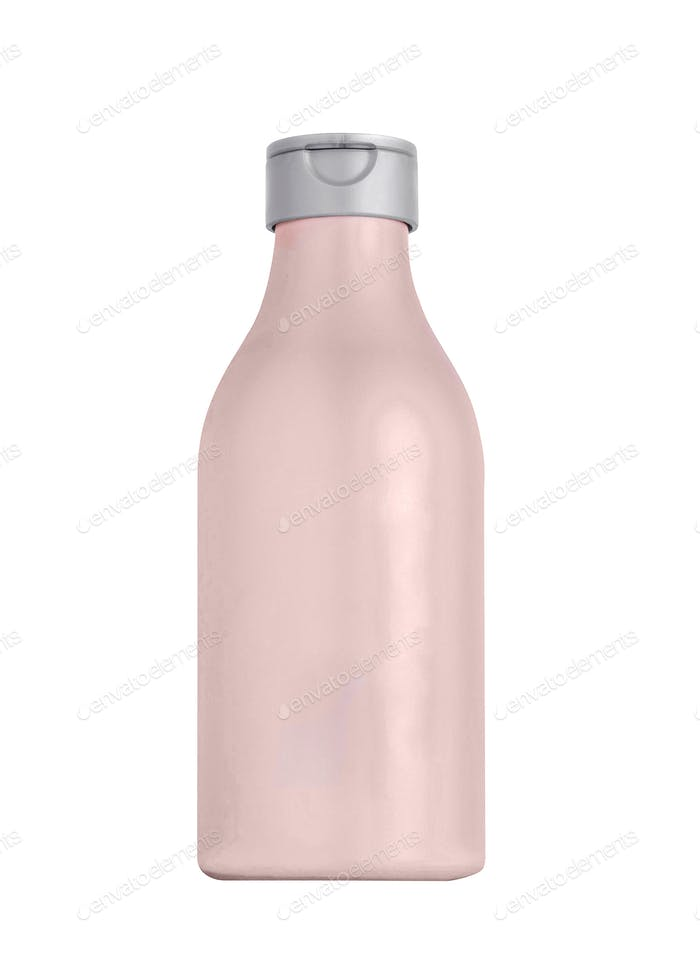 Plastic bottle isolated on white background
