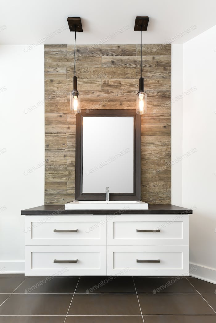White bathroom contemporary cabinet