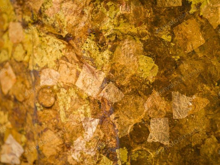 Fondo de hojas doradas