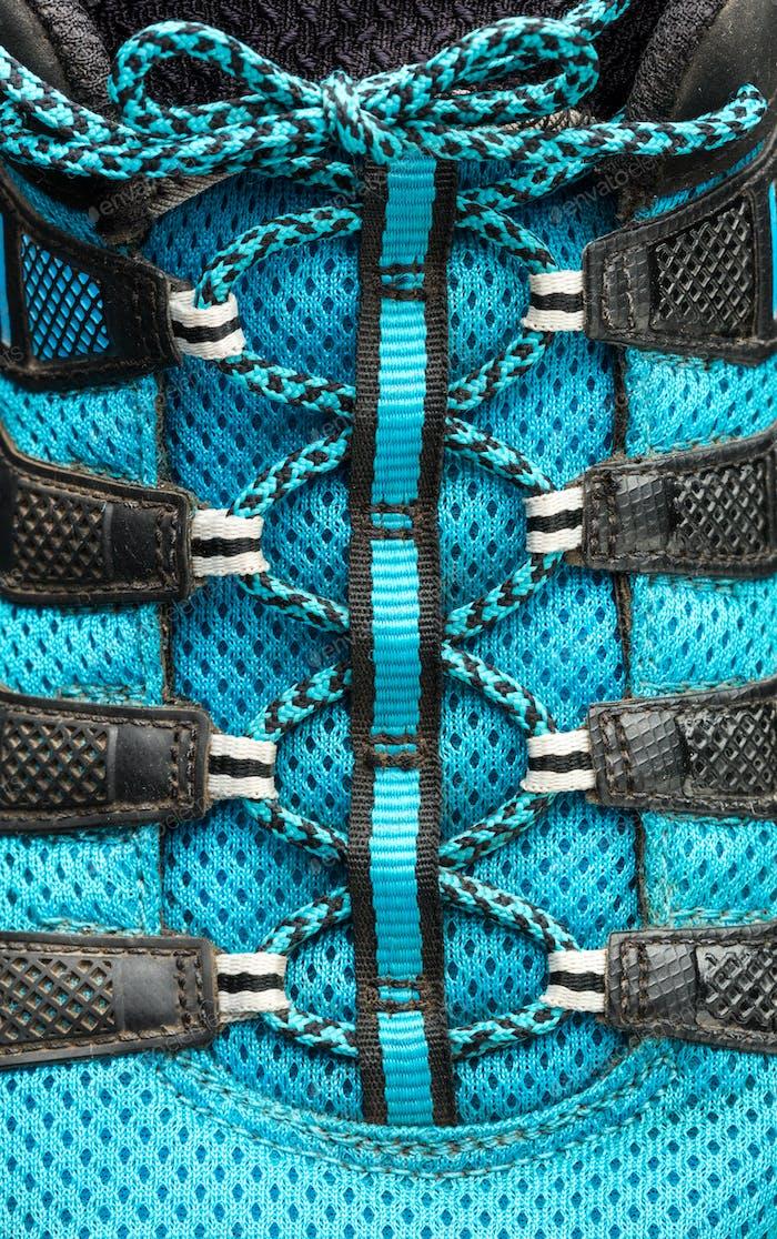 Thumbnail for Macro of blue shoelaces
