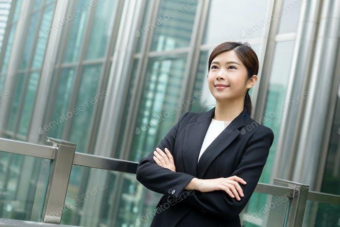 Asian Businesswoman looking away