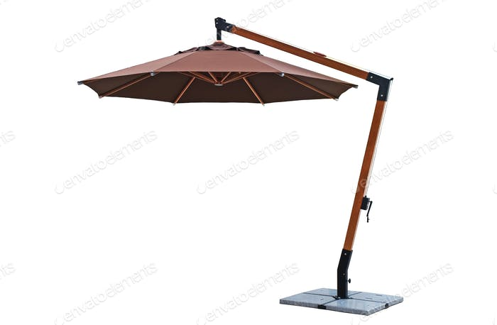 Umbrella use Umbrella use with Garden Furniture on White Background garden furniture