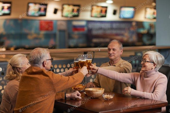 Senior People Enjoying Drinks