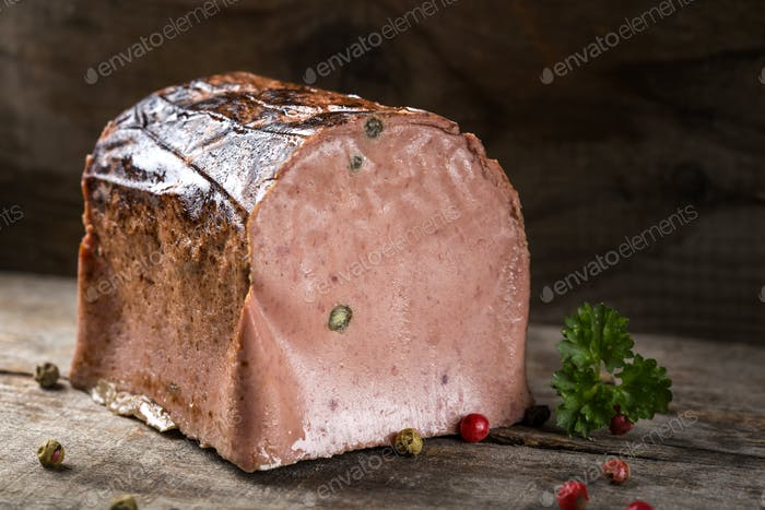 Special liver pate made from different types of meat