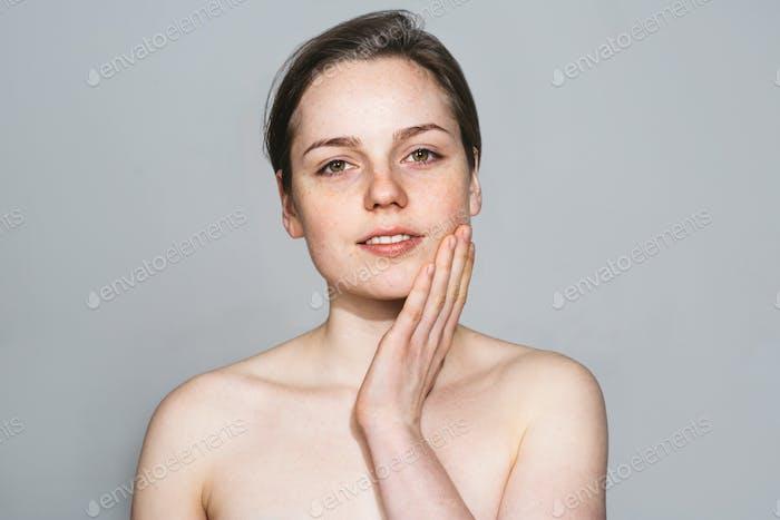 Beauty woman healthy skin natural beauty