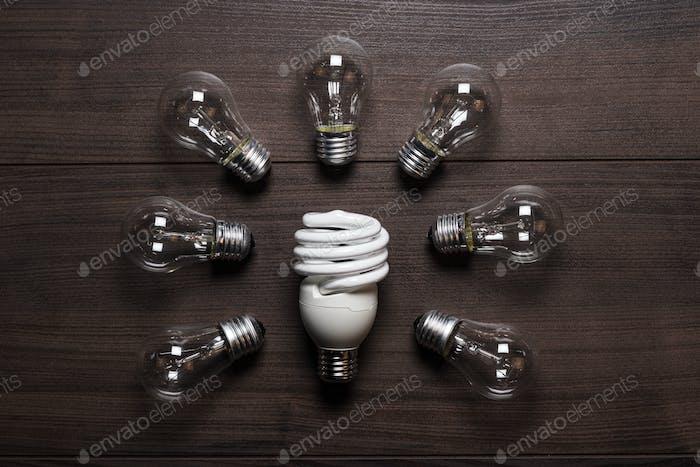 Концепция энергосберегающих ламп и ламп
