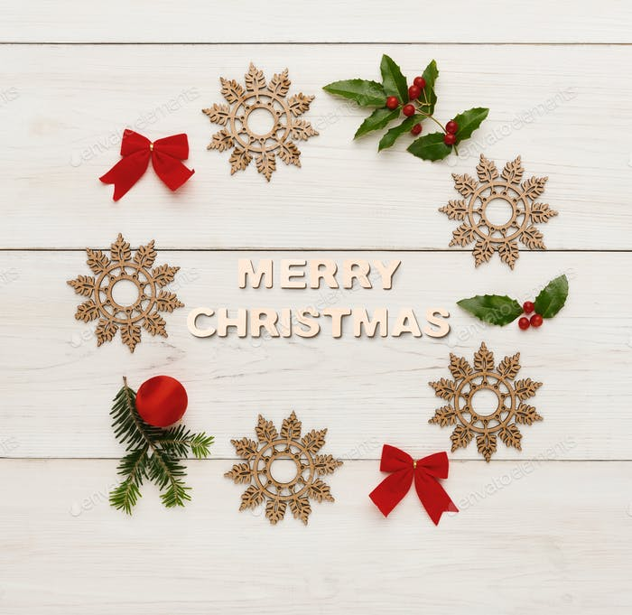 Merry christmas greeting, decoration background