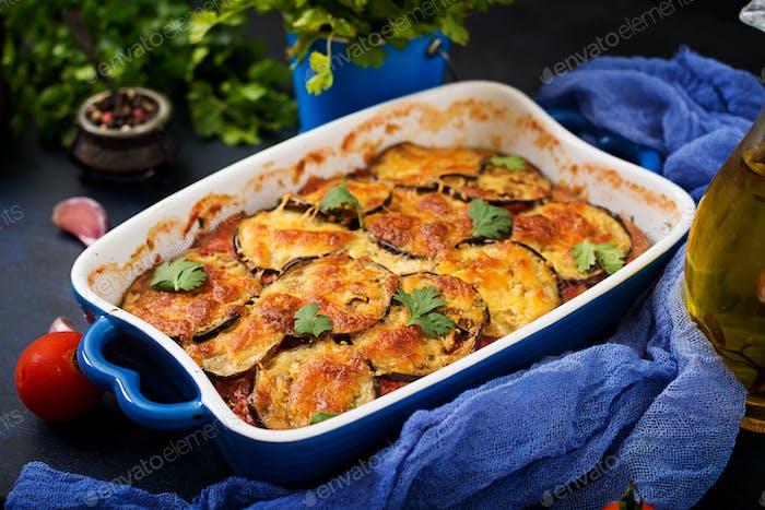 Eggplant Parmigiano (eggplant casserole) - a traditional Italian dish
