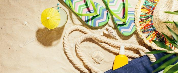 Sommer Urlaub Strand Banner Hintergrund