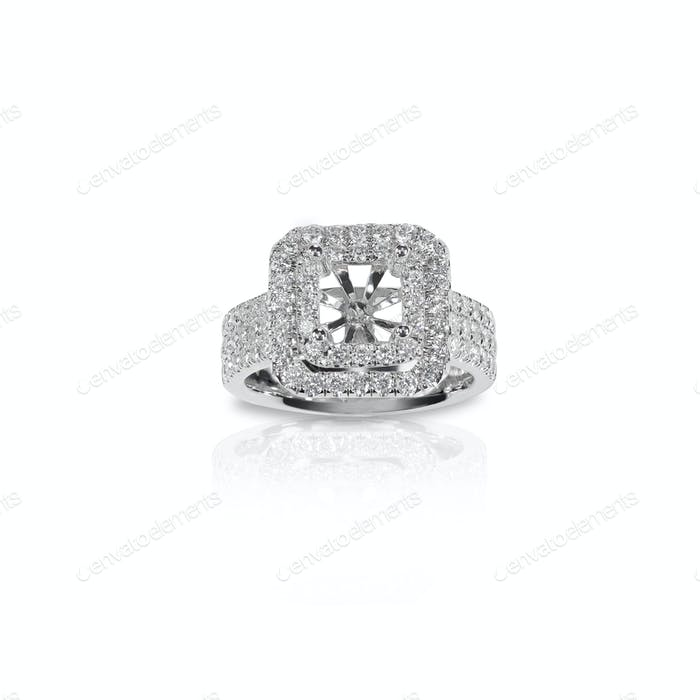 Halo DIamond Engagement Wedding Ring Setting unfinished jeweler jewelry making design