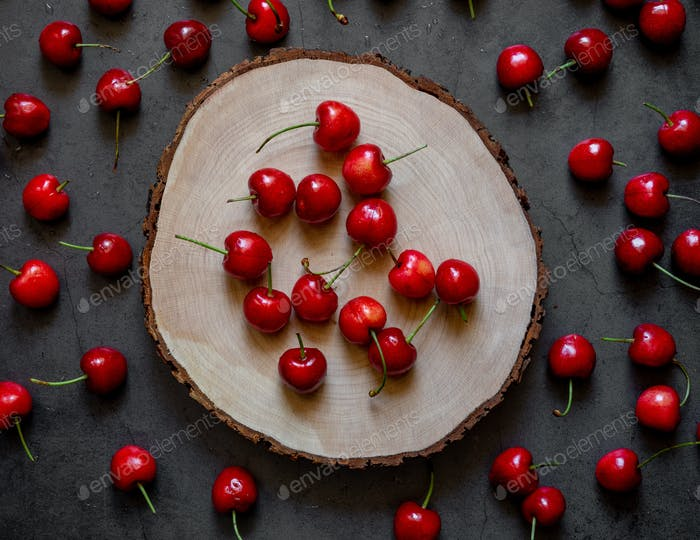 cherries on trunk