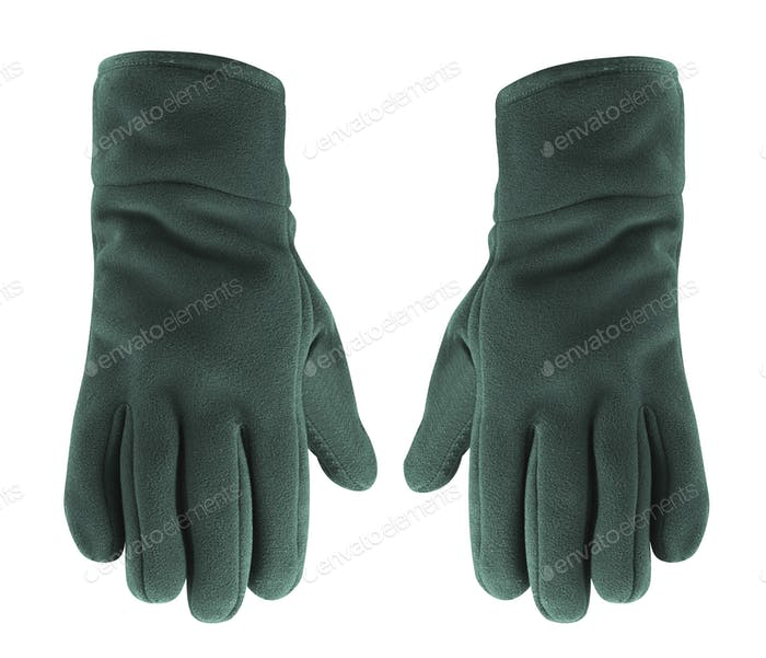 winter gloves isolated