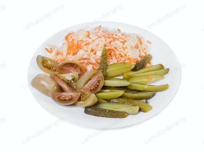 Delicious marinated pickled vegetables.