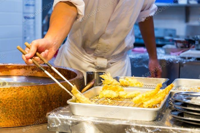 Cooking of tempura